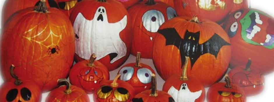Halloween è più divertente con zucche decorate a tema